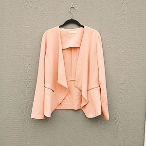 Elodie | Peach lightweight blazer size large